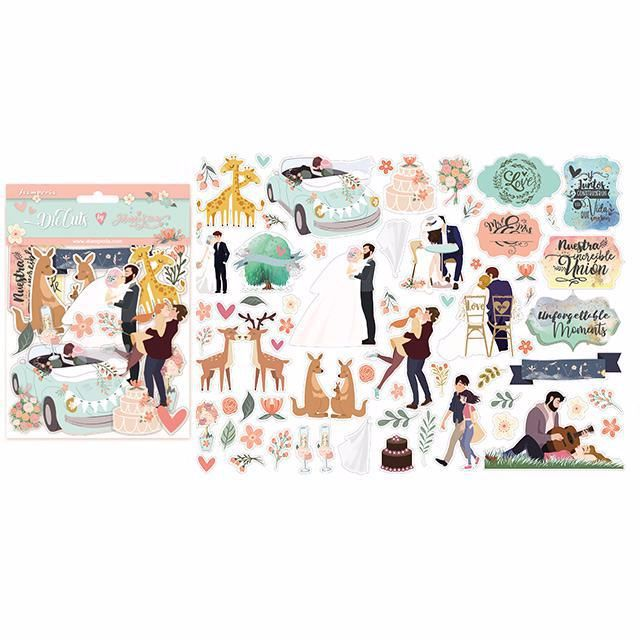 Assorted die cuts from Stamperia : Love Story