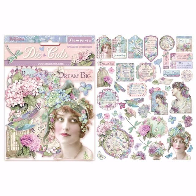 Hortensia Die cuts from Stampperia