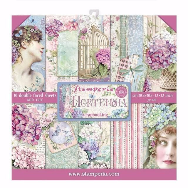 HORTENSIA : 12X12 Paper pad from Stamperia