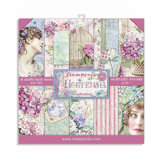 HORTENSIA : 8X8 Paper pad  from Stamperia