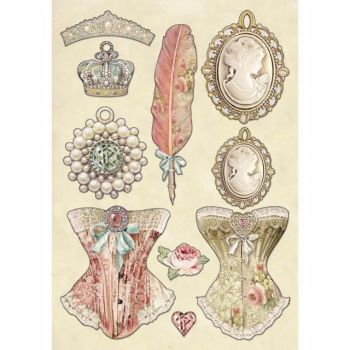 Stamperia Wooden Shapes : PRINCESS