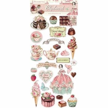 Stamperia Chipboard shapes Sweety