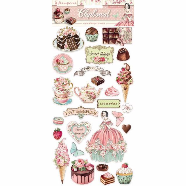 Stamperia Sweety chipboard shapes