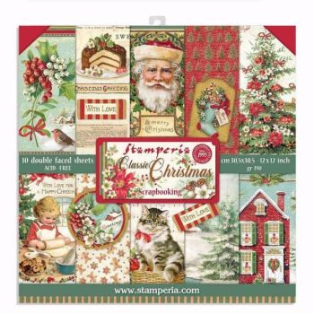 Stamperia Classic Christmas 12 x 12 paper pad
