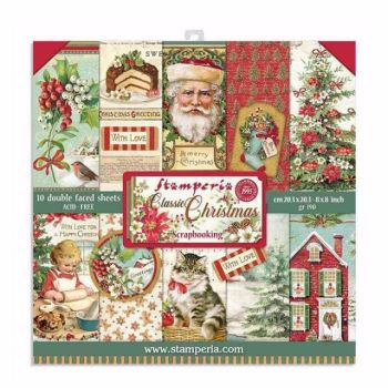 Stamperia Classic Christmas 8x8 paper pad