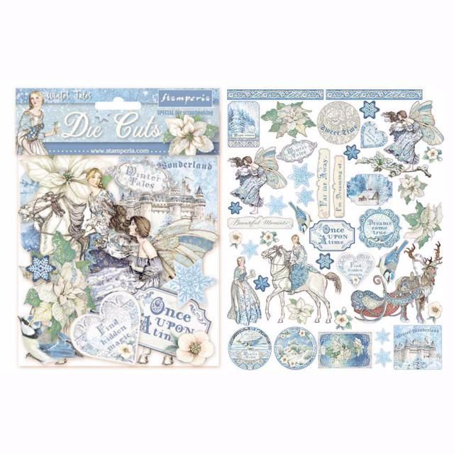Stamperia Winter tales die cut assortment