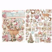 Stamperia Assorted Die Cuts Pink Christmas