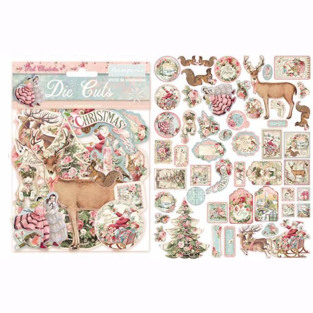 Stamperia assorted die cuts : Pink Christmas
