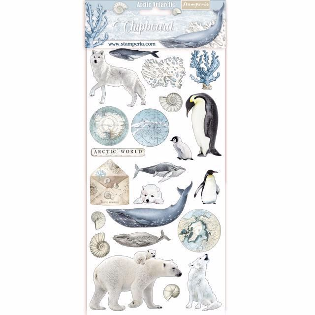 Stamperia Arctic Antarctic Chipboard shapes