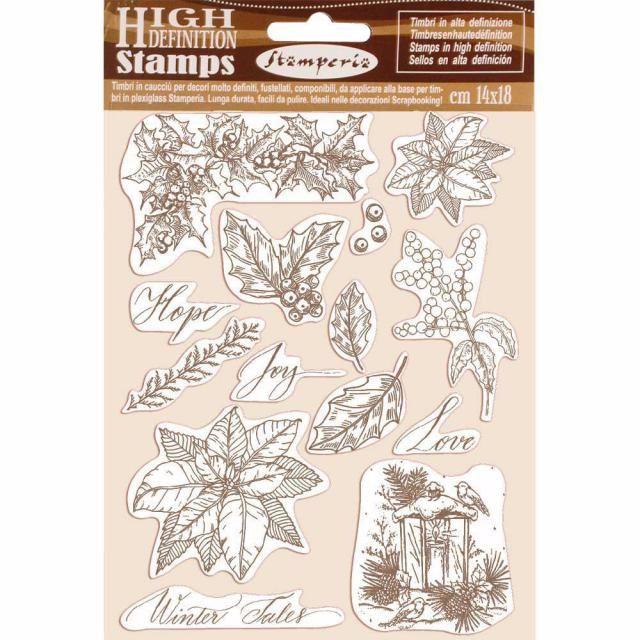 Stamperia high Definition Stamps : Poinsettia
