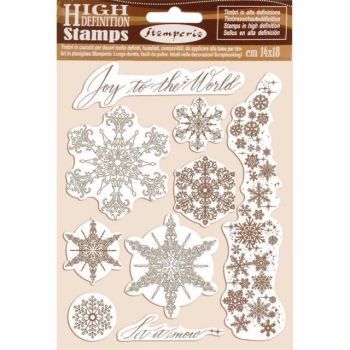 Stamperia High Definition Stamps Snowflakes