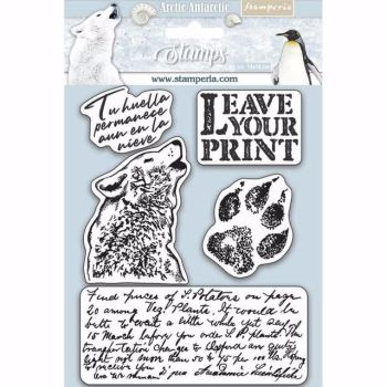 Stamperia Rubber Stamps Arctic Antarctica Leave your print
