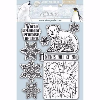 Stamperia Rubber Stamps Arctic Antarctica Moments full of you