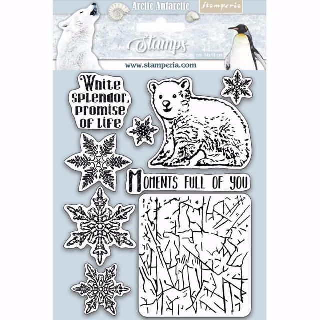 Stamperia Stamp set : Arctic Antarctica : Moments full of you