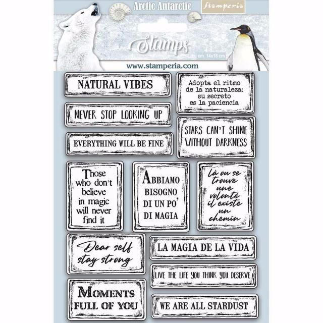 Stamperia Stamp set : Arctic Antarctica : Quotes