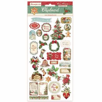 Stamperia Chipboard shapes Classic Christmas