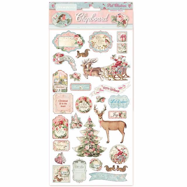 Stamperia Chipboard shapes : Pink Christmas