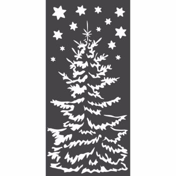 Stamperia 12x25 Stencil Christmas Tree