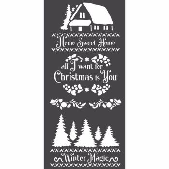 Stamperia 12x25 Stencil Winter Magic