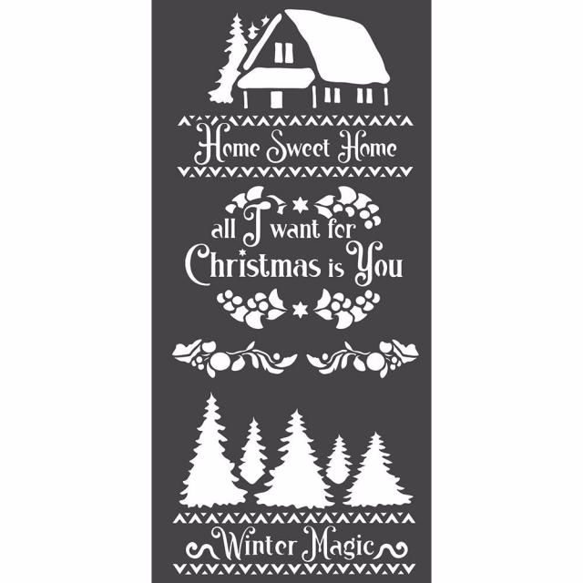 Stamperia Thick stencil : 12 x 25 : Winter Magic