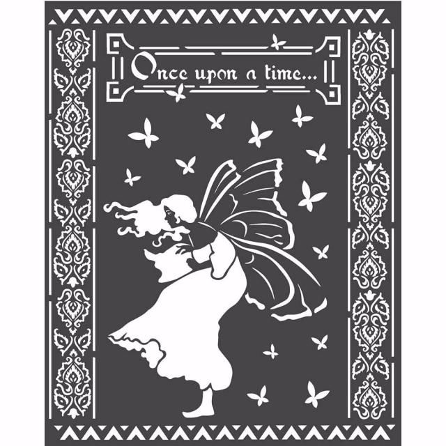Stamperia Media stencil : 20x25 : Once Upon a Time