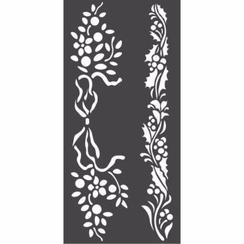 Stamperia 12x25 Stencil Christmas borders