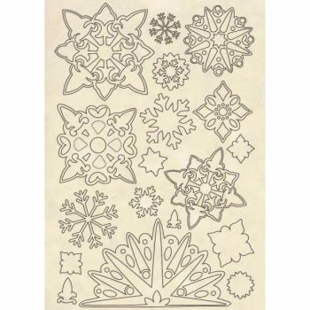 Stamperia Wooden Shapes Snowflakes