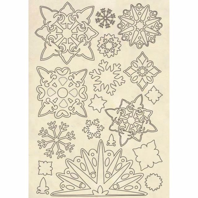 Stamperia wooden shapes : Snowflakes