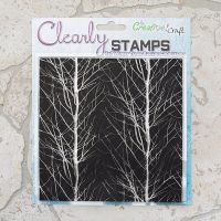 7x7 Winter Trees background stamp