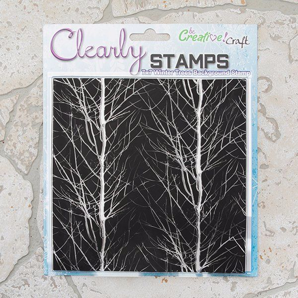 Winter Trees 7x7 Background stamp