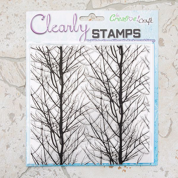 Winter Trees 7x7 Silhouette stamp
