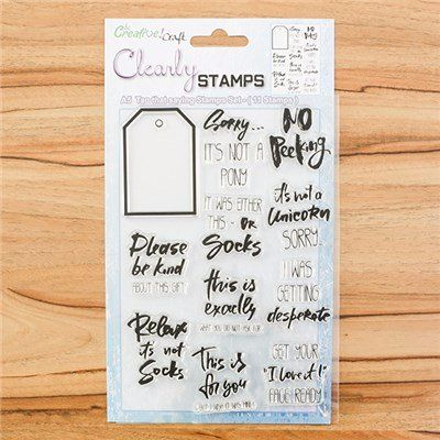 A5 STAMP SET : TAG THAT SAYING