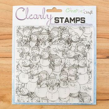 7x7 Snow Cuties background stamp