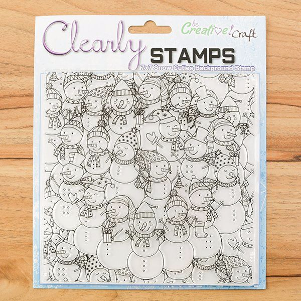 SNOW CUTIES 7X7 STAMP