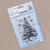 A6 Christmas Tree Swirly stamp set