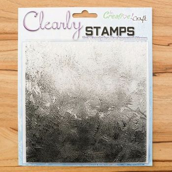 7x7 Frosty Ice background stamp