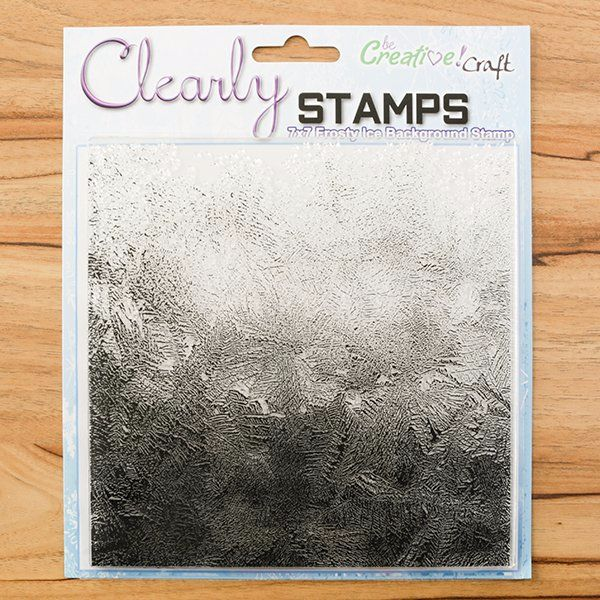 7X7 STAMP : FROSTY ICE BACKGROUND