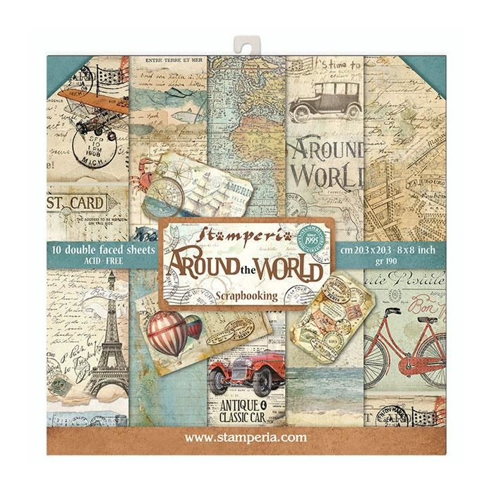 New Product : Stamperia Around the world 8x8 paper pad