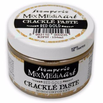 Stamperia Mixed Media Art - Red Gold Crackle Paste