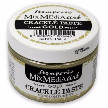 Stamperia Mixed Media Art - Gold Crackle Paste