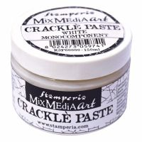 Stamperia Mixed Media Art - White Crackle Paste