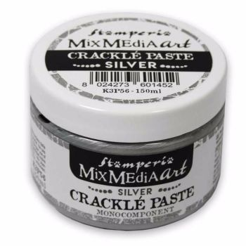 Stamperia Mixed Media Art - Silver Crackle Paste