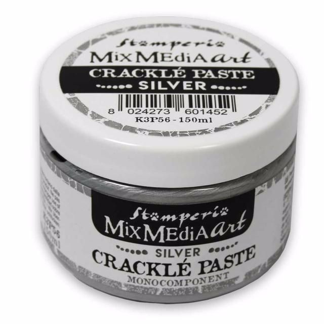 MIX MEDIA ART : CRACKLE PASTE
