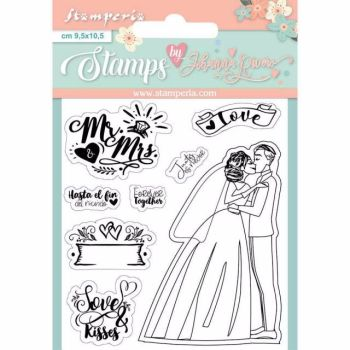 Stamperia Clear Stamp Set Mr and Mrs