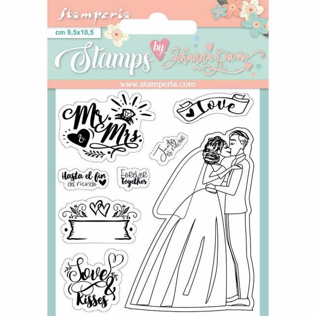 MR AND MRS CLEAR STAMP SET