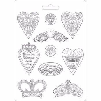 Stamperia Hearts and Crowns Soft Mould