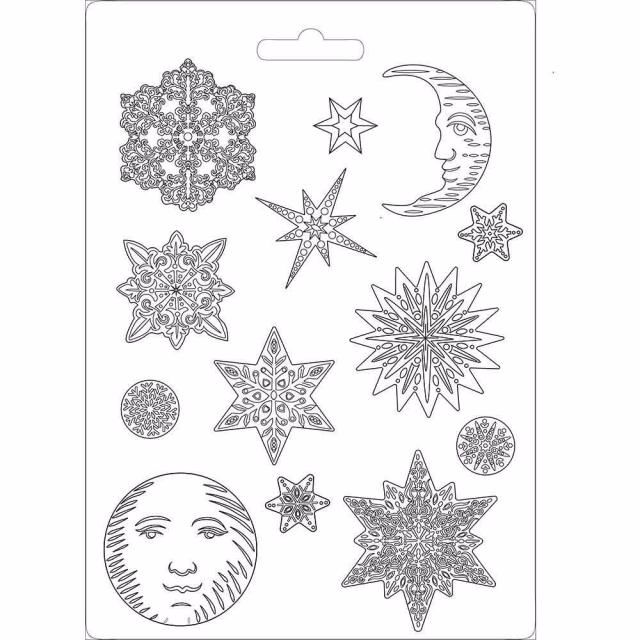STAMPERIA SOFT MOULD : SNOWFLAKES