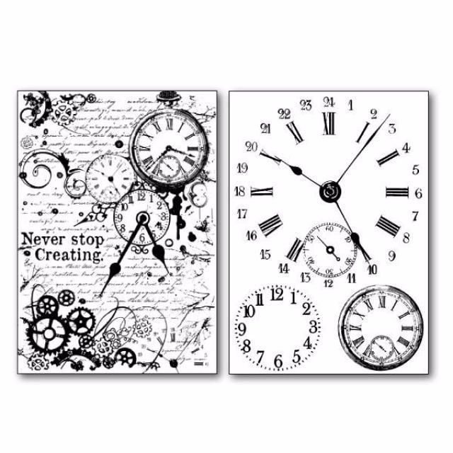 STAMPERIA TRANSFER PAPER : WATCHES