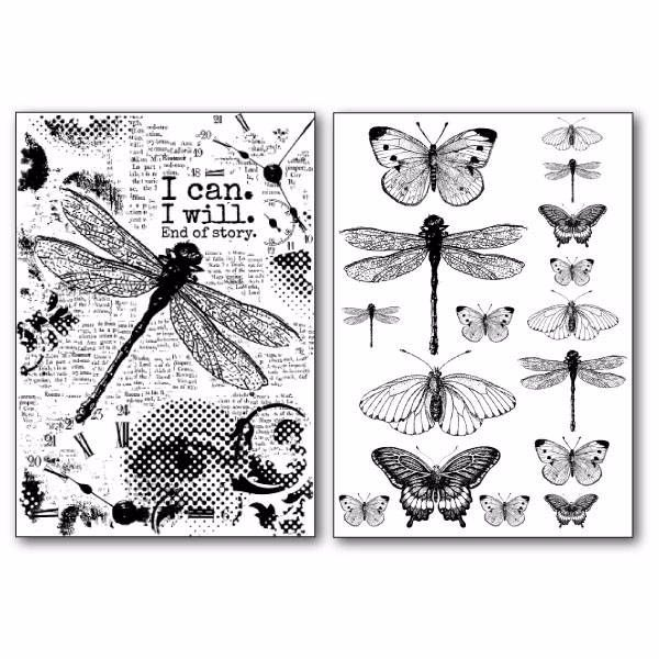 STAMPERIA TRANSFER PAPER : DRAGONFLY