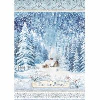 Stamperia  A4 Rice paper Winter Tales Far Far Away